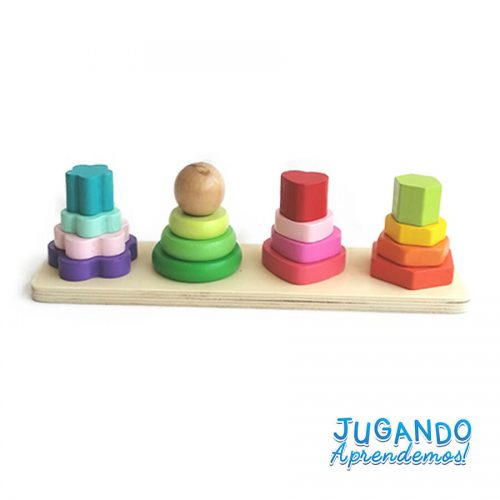 4 torres figuras geometricas